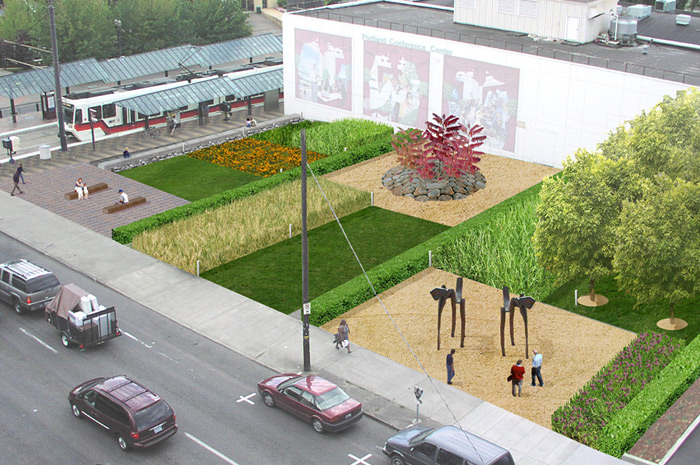 Photo of Block 47 Temporary Landscape project